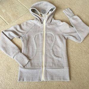 Lululemon Gray Plaid Scuba Full Zip Hoodie -2